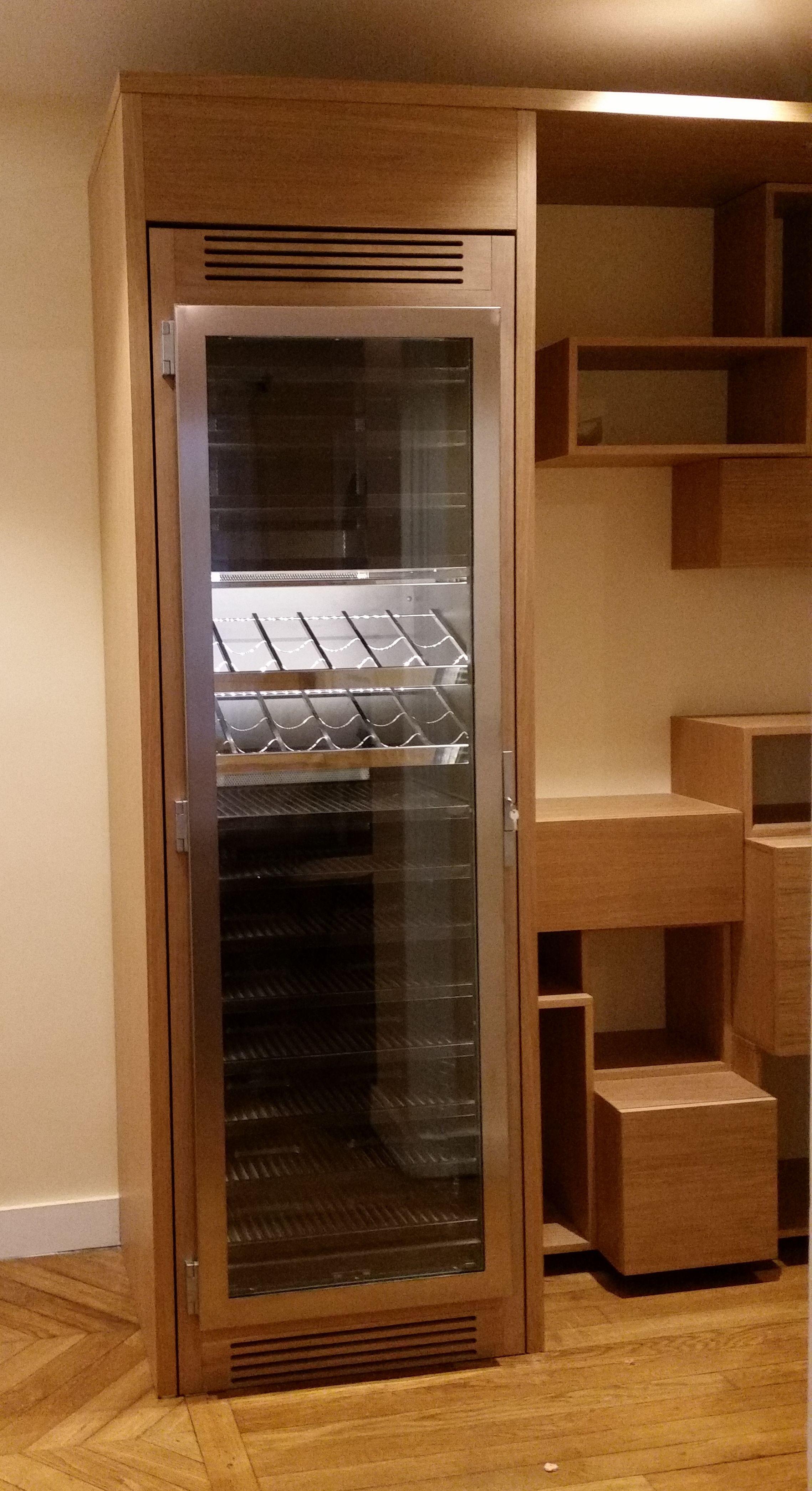 cave vin sur mesure provintech particulier finition bois porte inox bross fin de. Black Bedroom Furniture Sets. Home Design Ideas