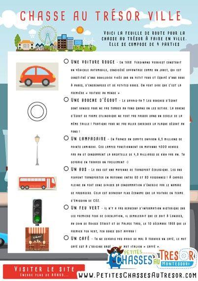 Kit Gratuit De Chasse Au Tresor A Faire Dans La Ville Chasse Aux Tresors Gratuite Chasse Au Tresor Jeu De Piste