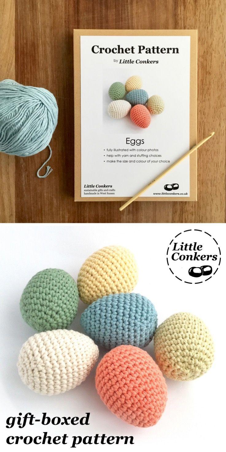 Crochet Egg Pattern Gift For Crocheter Printed Paper Craft Spring Easter Her