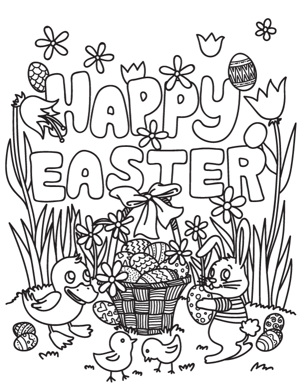 Free Happy Easter Coloring Page Download It At Https Museprintables Com Download Coloring Page Happy Easter Coloring Pages Easter Colouring Easter Colors