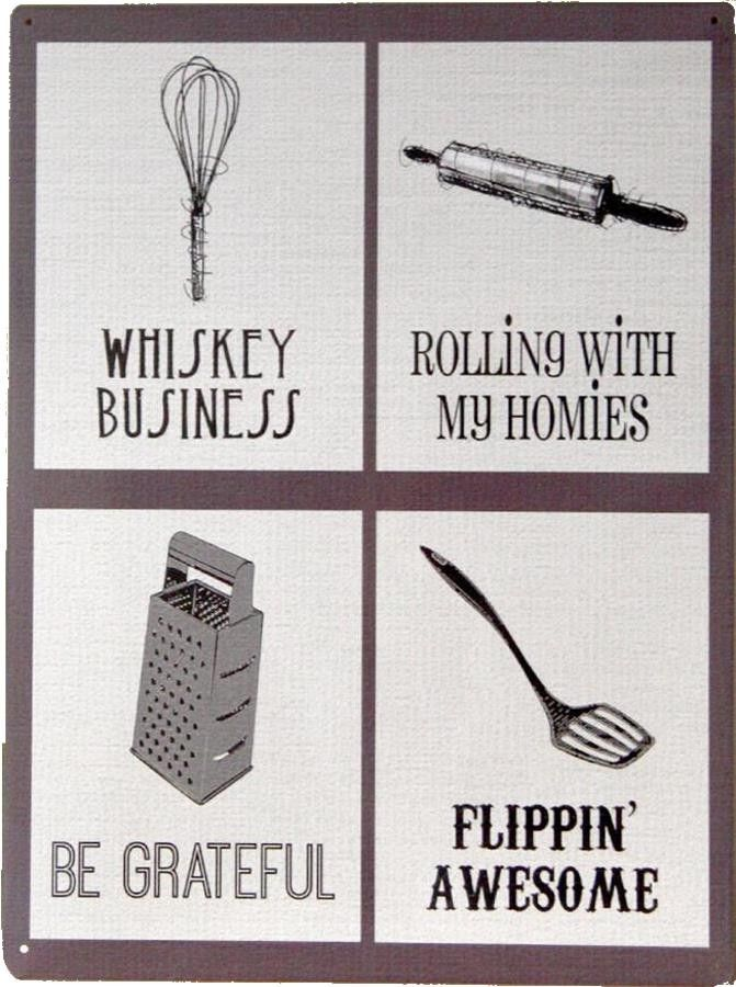 Whiskey Business - Flippin'Awesome : Plaque décorative rétro en ...
