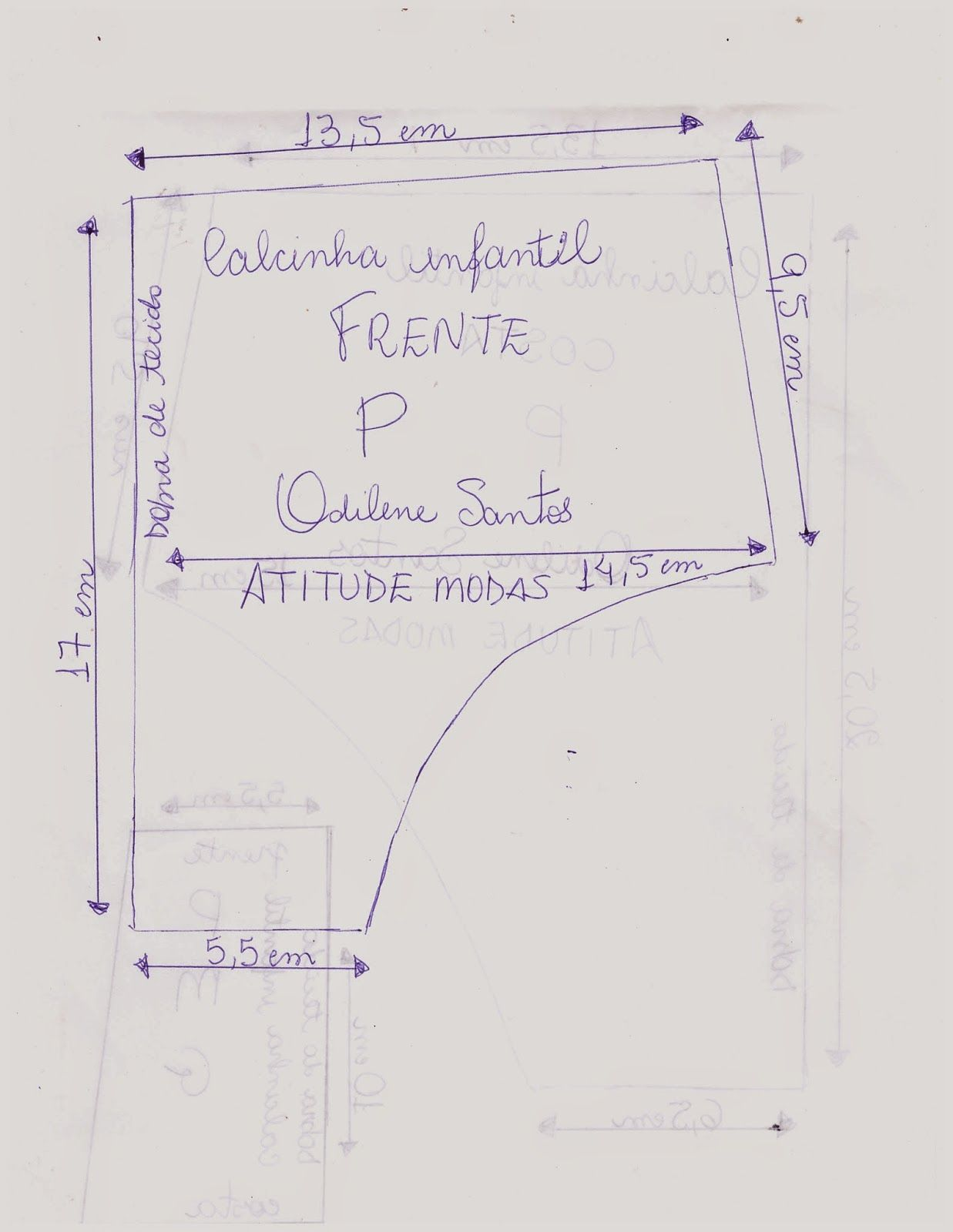 ATITUDE MODAS Odilene Santos: Novos moldes de calcinhas