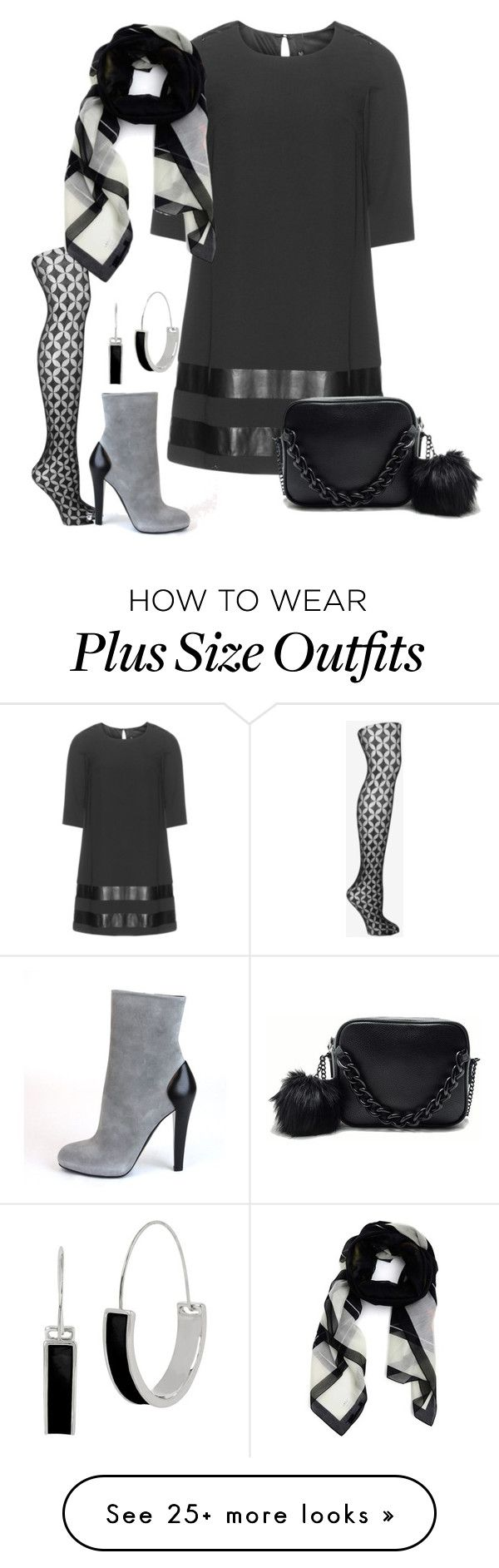 """Still waiting for Spring (plus)"" by kneesaasmom on Polyvore featuring Manon Baptiste, Fogal, Posh Girl, Givenchy and Kenneth Cole"