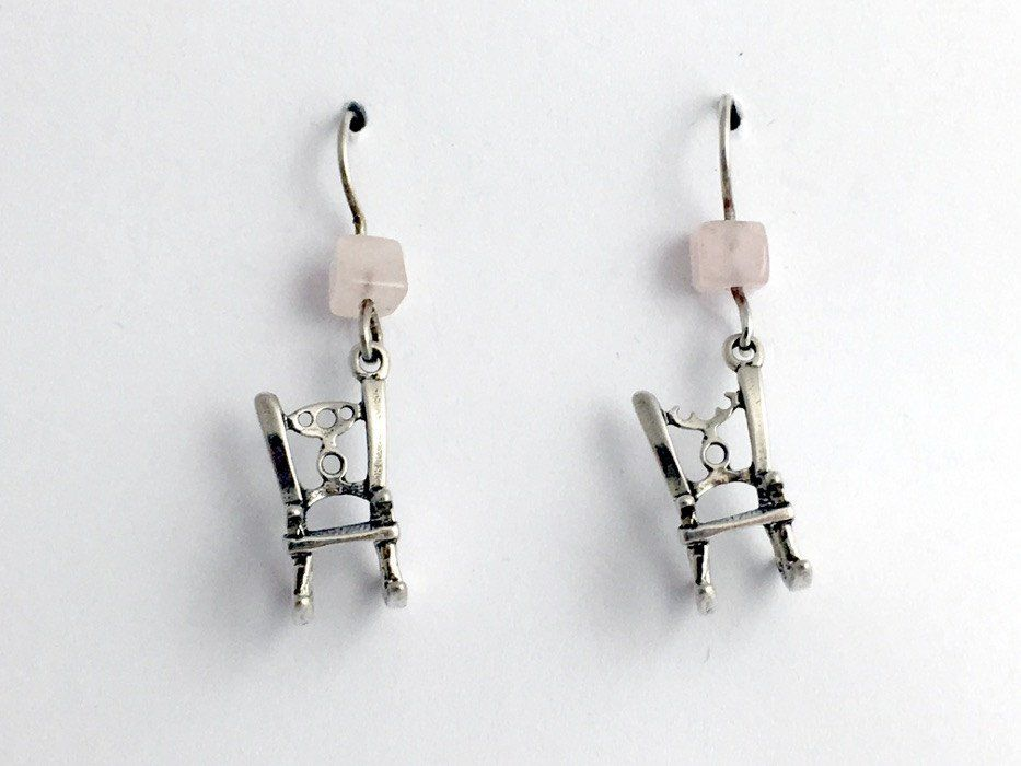 Sterling Silver 3 D Rocking Chair Dangle Earrings Chairs Woodworker Furniture Woodworking With Resin Woodworking Woodworking Outdoor Furniture