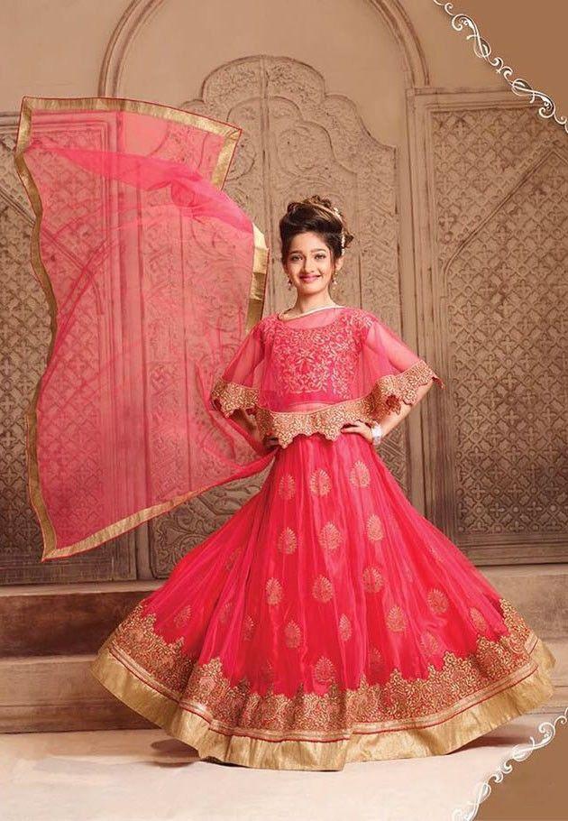 ce6f99daaa Red wedding wear lehenga choli with cape | lehenga choli for small ...