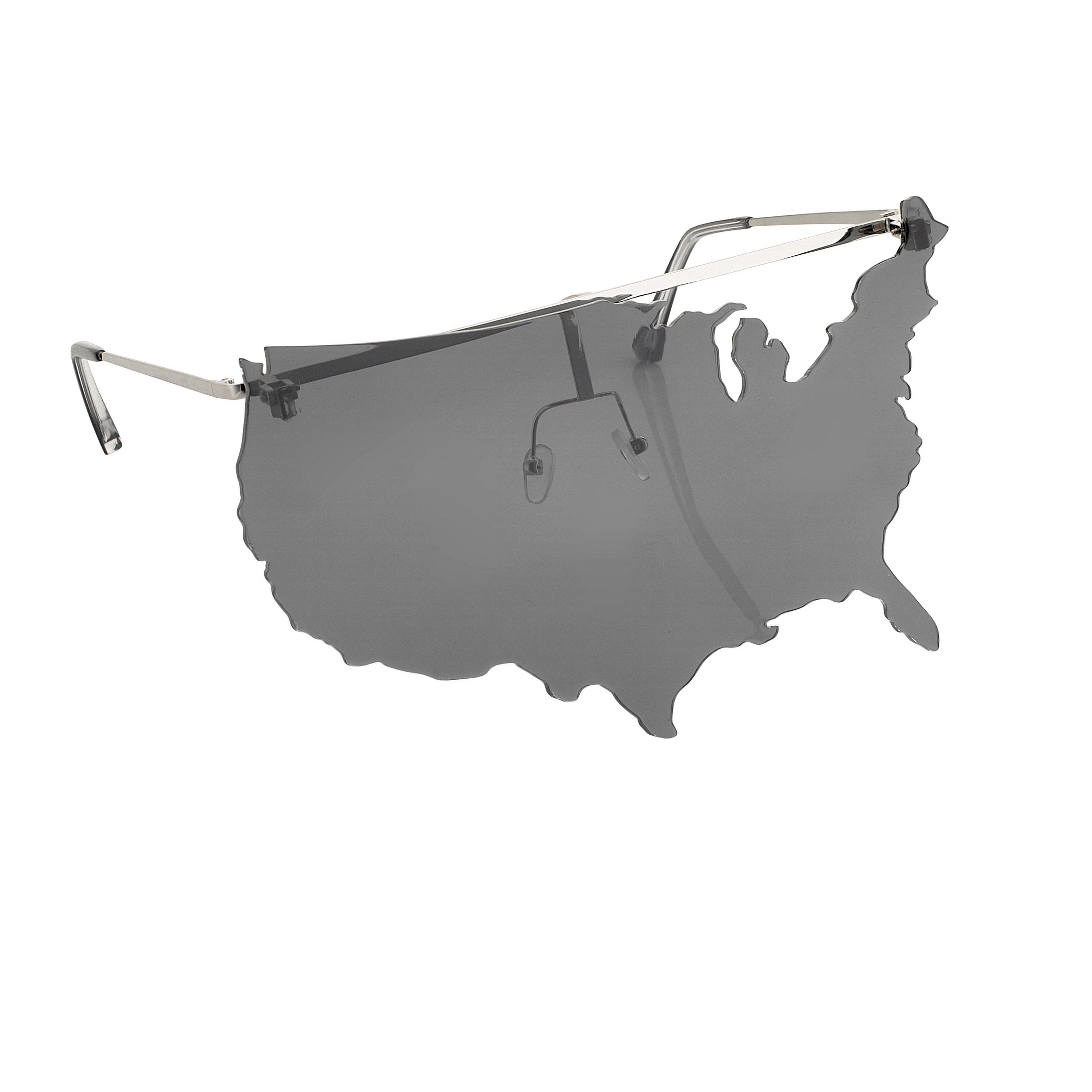 b9bac6169bba Linda Farrow x Jeremy Scott  Map  Sunglasses - Charcoal