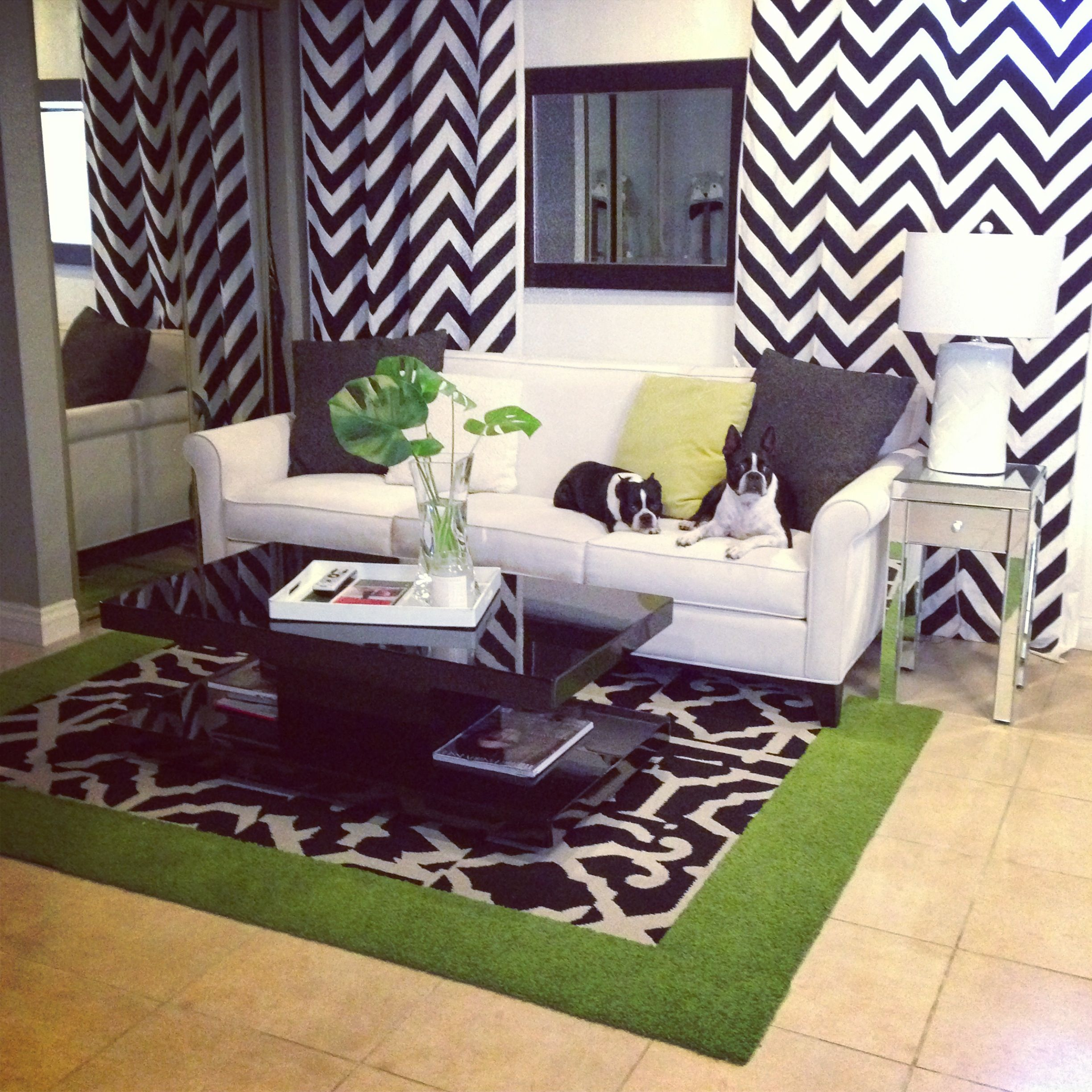 My DIY chevron curtains for my living room. | Home ...