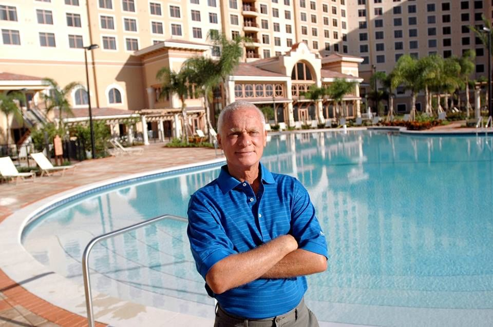 Mr. Rosen hanging by one of our amazing pools at Rosen Shingle Creek in Orlando, Florida #hotel