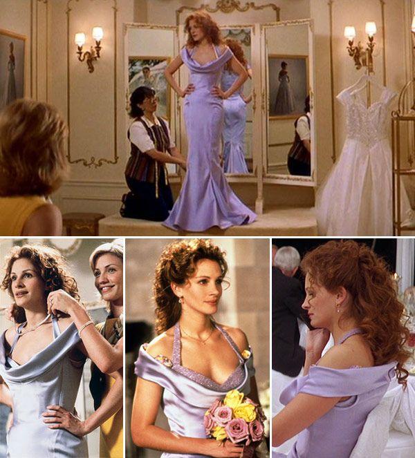 Vestidos De Filmes Para Madrinhas De Casamento Constance Zahn Casamentos My Best Friend S Wedding Wedding Movies Julia Roberts