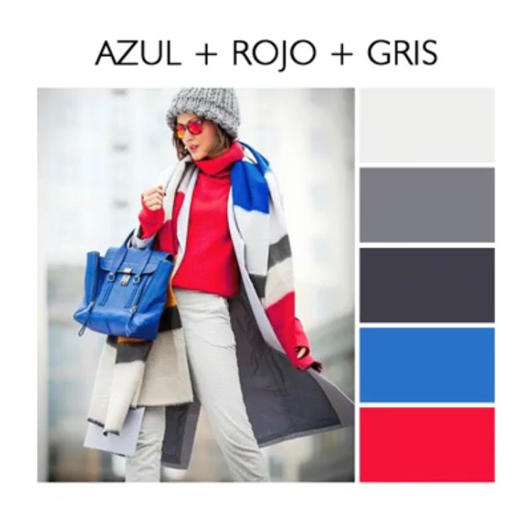 Como Combinar Colores Combinaciones De Colores Azules Gris Y Rojo Ropa De Colores