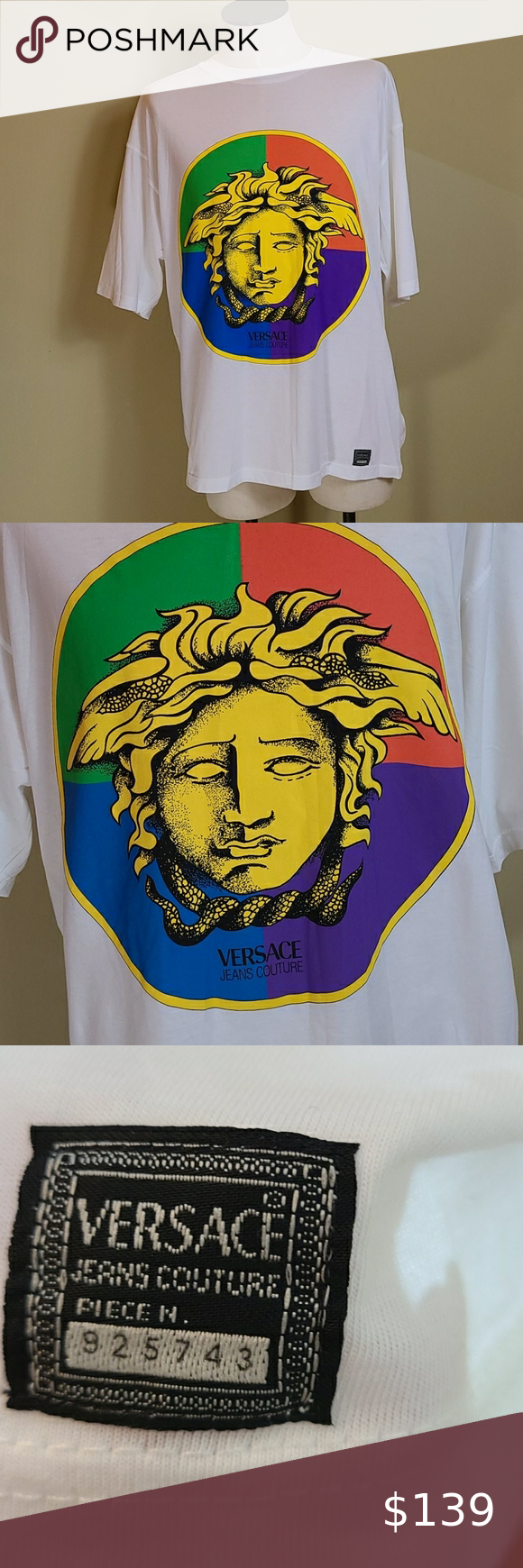 Gianni Versace Jeans Couture Logo T Shirt Medium Versace Jeans Couture Versace Jeans Versace T Shirt