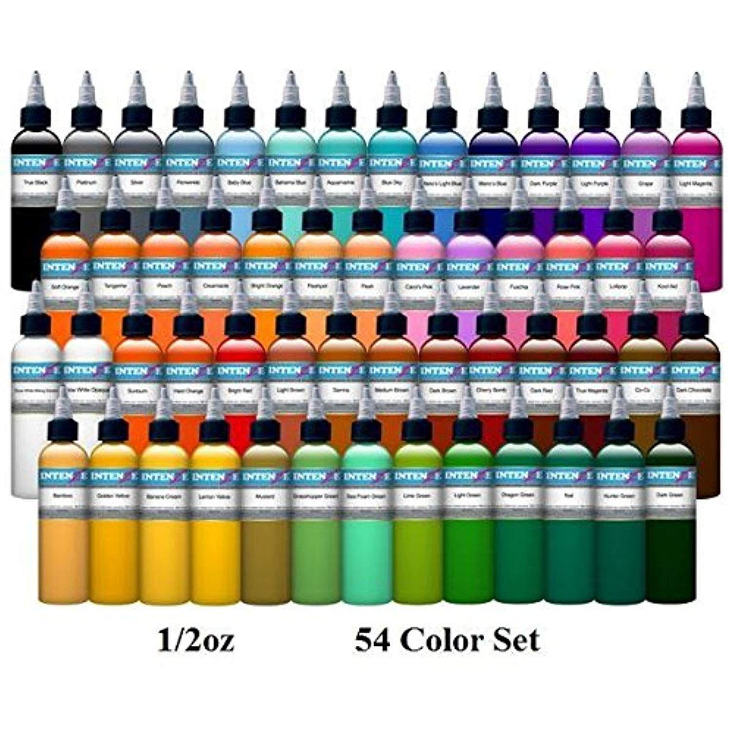 54 Color Set Intenze Tattoo Ink 1 2oz Bottles Want Additional Info Click On The Image This Is An Affiliate Li Tattoo Ink Sets Ink Tattoo Color Tattoo