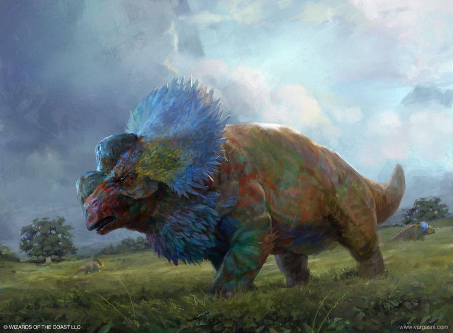 Huatli S Snubhorn Mtg By Vargasni In 2019 Fantasy
