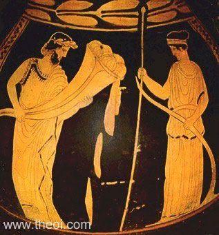 Hades With Cornucopia Persephone With Plow Greek Vase Athenian