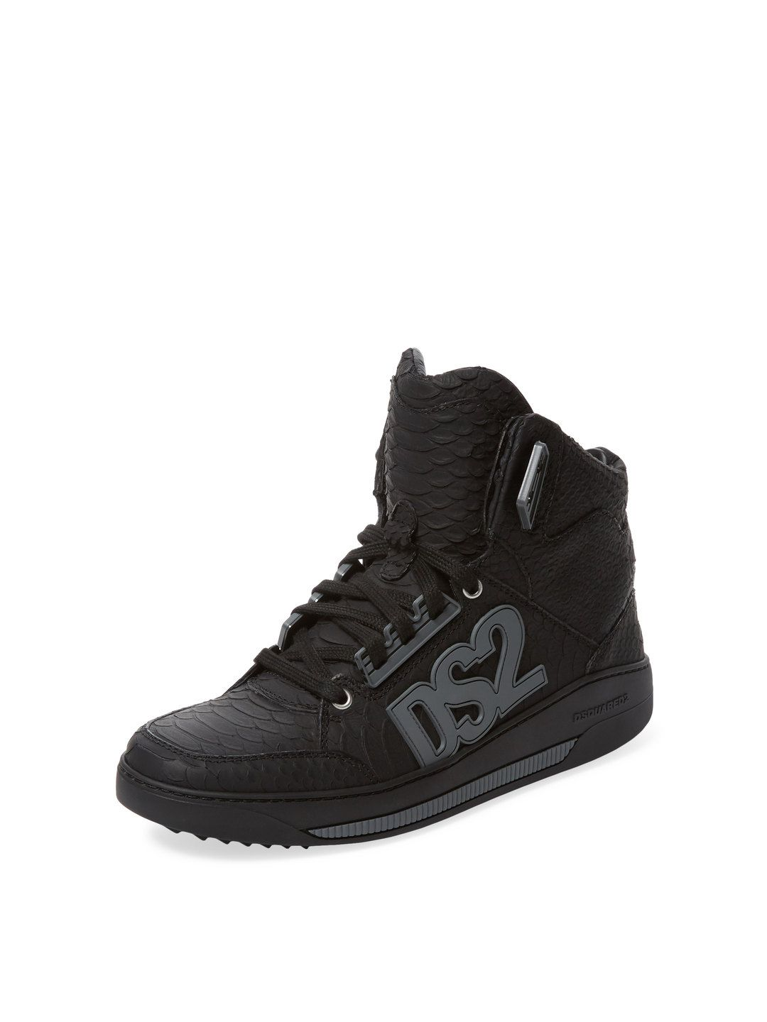 Embossed Leather Hi Top by DSquared2 at Gilt