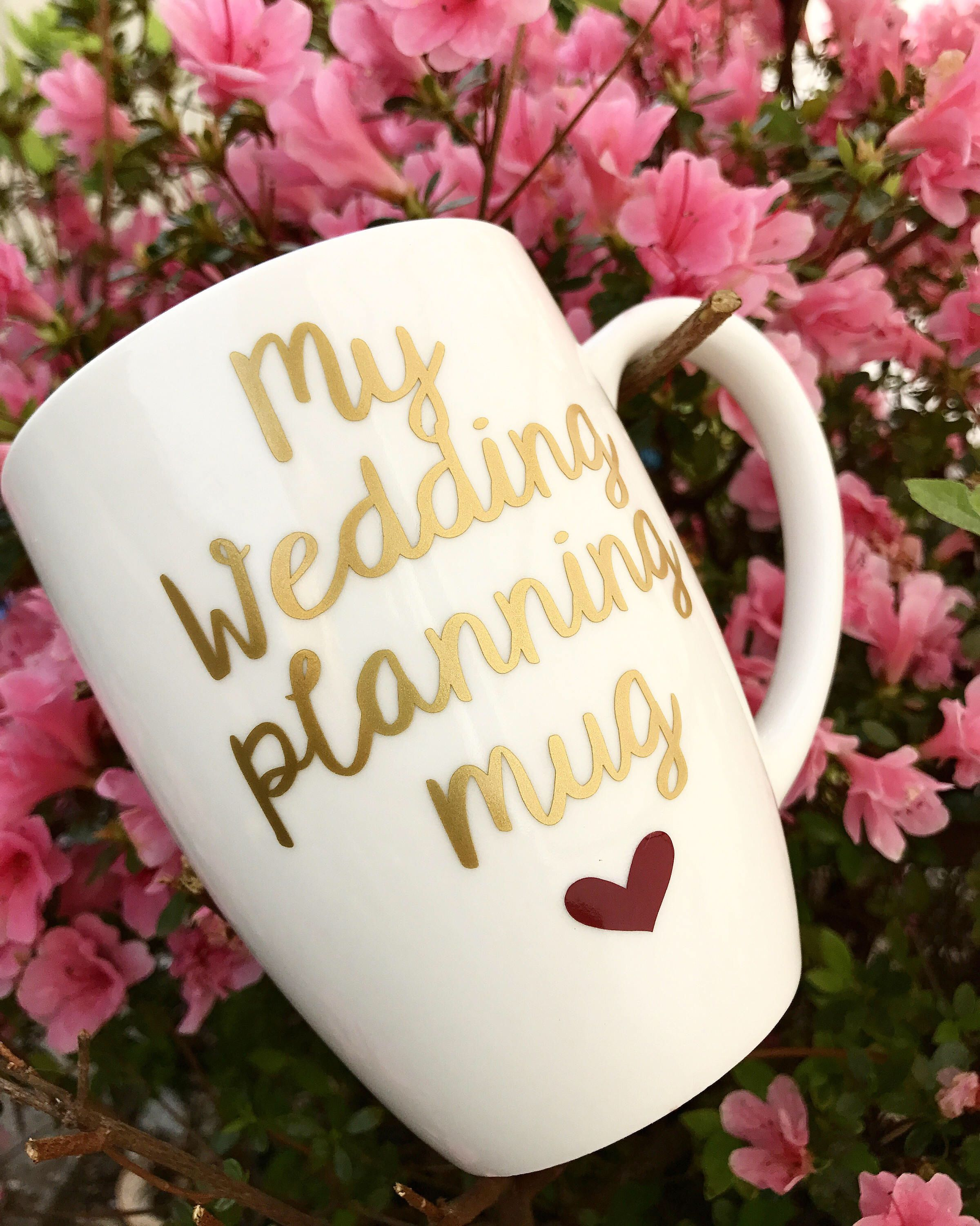 Engagement Gift Bride To Be Wedding Planning Glass For