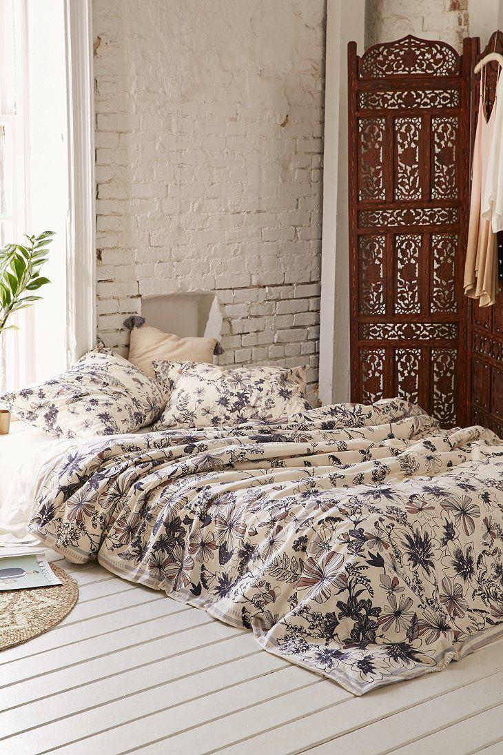 appealing plum bedroom decor   Plum & Bow Scattered Flowers Duvet Cover in 2019 ...
