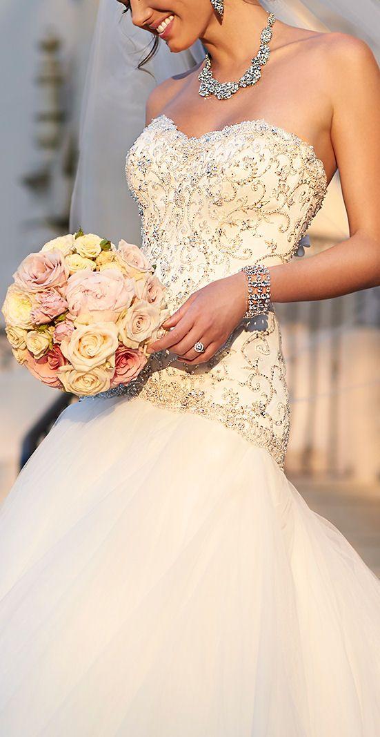 Sweetheart Tulle Wedding Gown #dream #wedding #inspiration