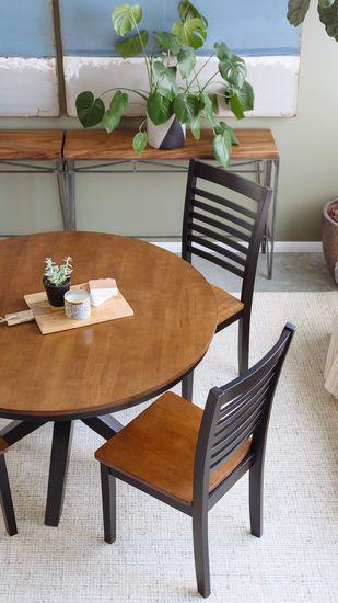 Round FivePiece Dining Set In Ebony Oak Dining Pinterest - 48 round oak dining table