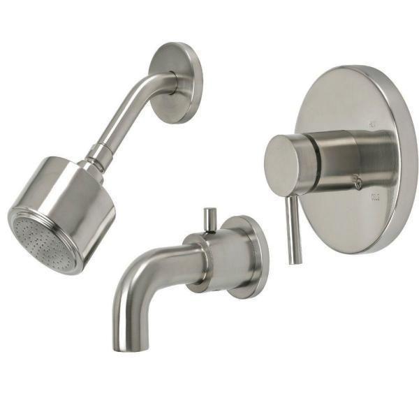 Pegasus Halo Series 1 Handle Tub And Shower Faucet In Brushed Nickel 855231g Pegasus Tub And Shower Faucets Halo Series Shower Tub