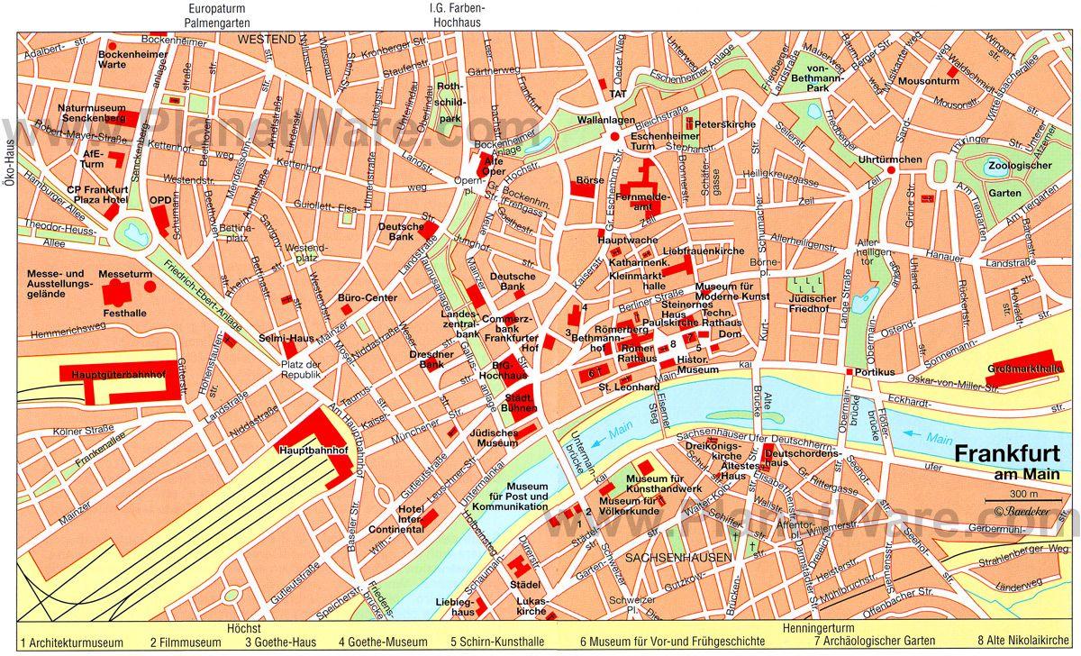 Frankfurt Map - Tourist Attractions