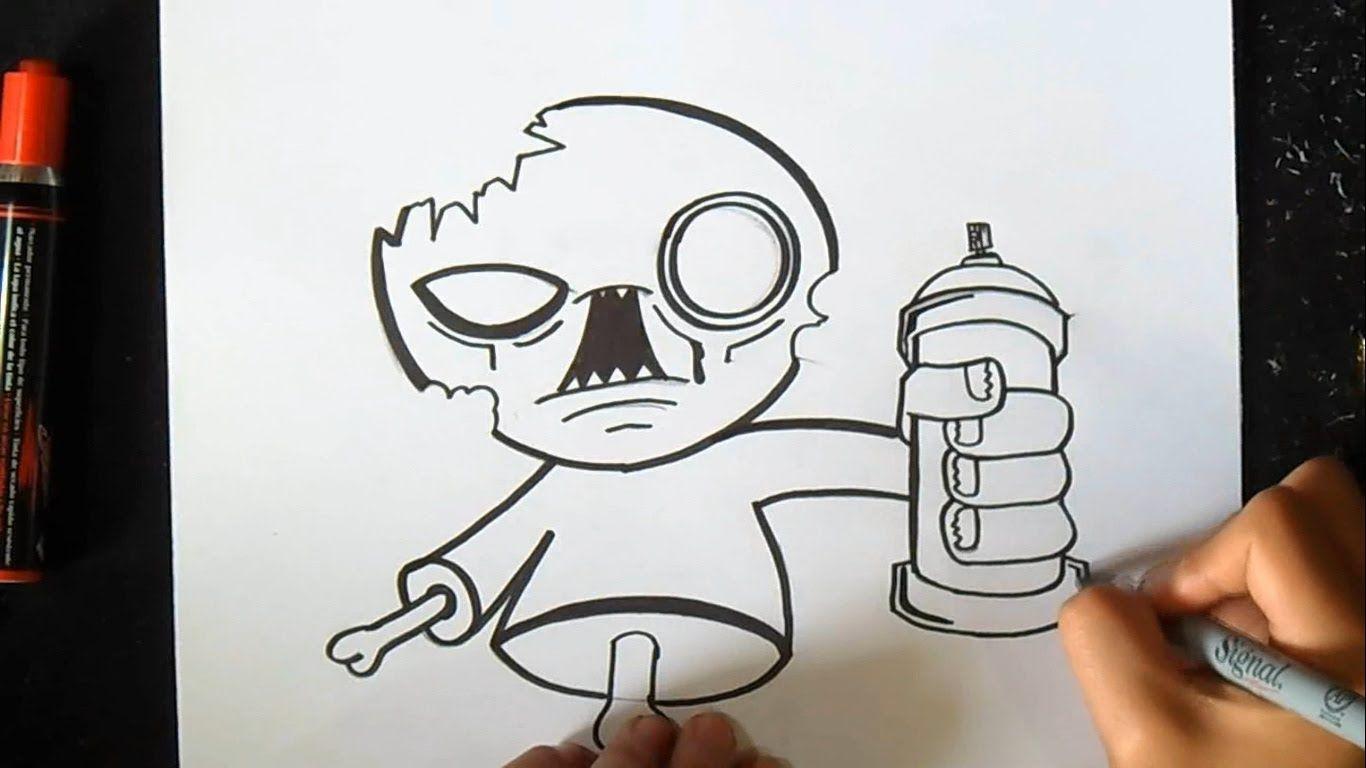 Como Dibujar Un Zombie Con Spray Graffiti Thinkd Art By World Graffiti Grafitti Dibujo