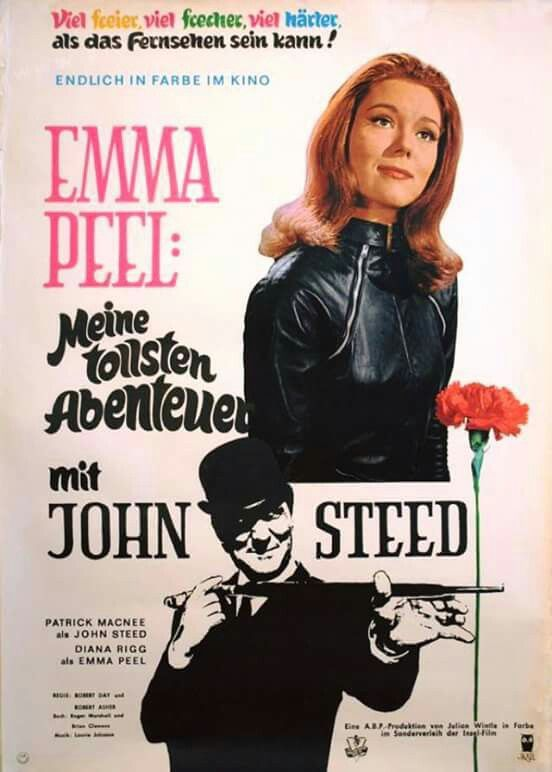 The Avengers Diana Rigg Emma Peel Gun Poster