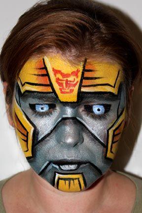 Transformer Face Paint : transformer, paint, Pashur, Painters, About, Faces, Entertainment, Painting, Halloween,, Superhero, Painting,