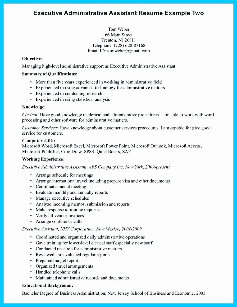 25 Administrative assistant Resume Summary in 2020