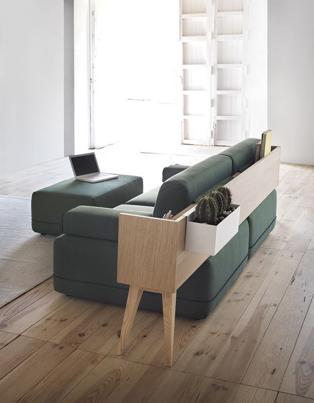New Innovations In Furniture Design Aparador Sofá Verde Green Couch Living