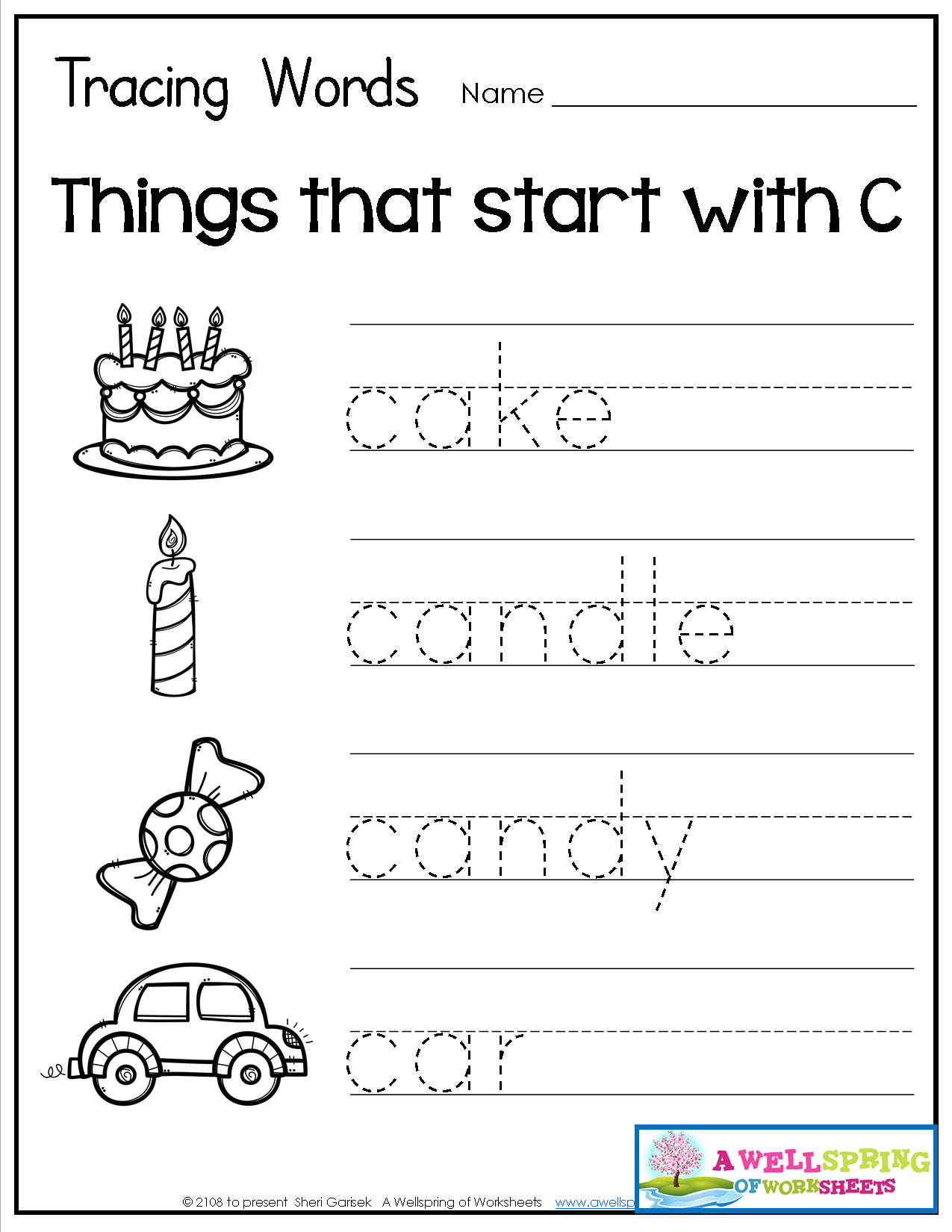 Tracing Words Things That Start With A Z Worksheets