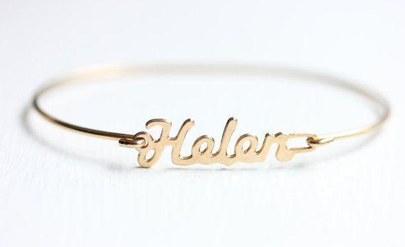 Name Bracelet - Helen in 2019 | Helen | Name bracelet