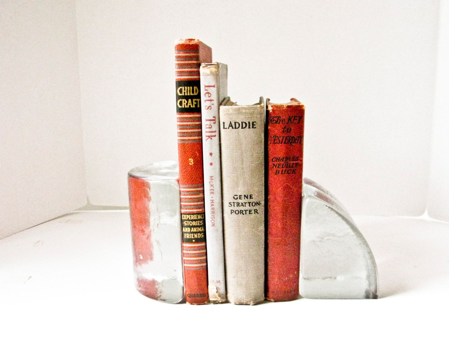 modern bookends - solid glass modern bookends geometric asymetric glass block book