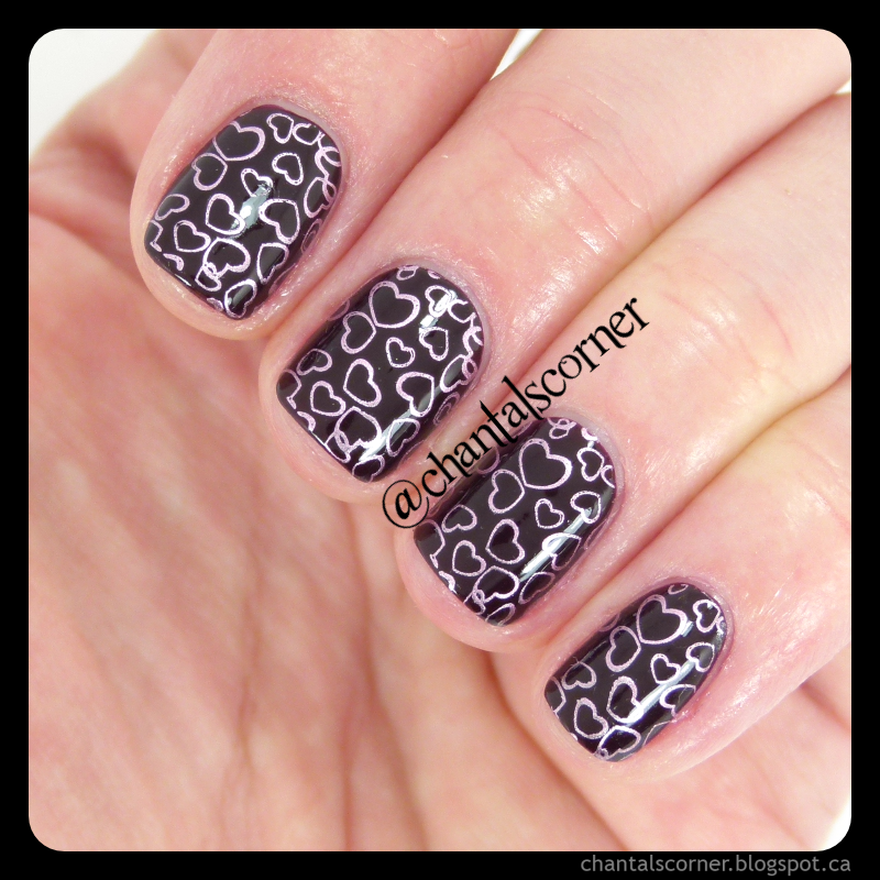 Heart Stamps Nail Art Nails Pinterest Stamping Plates