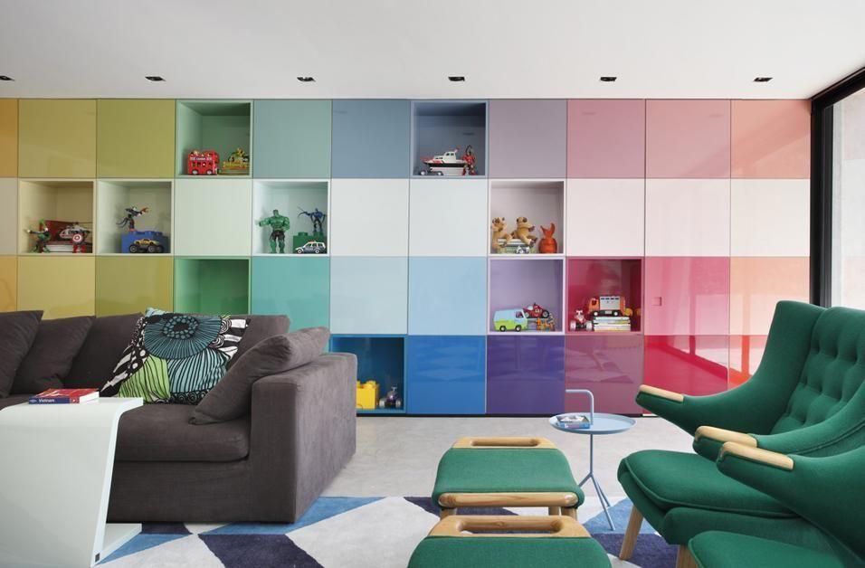 20 interni a colori interior pinterest for Mobili colorati moderni