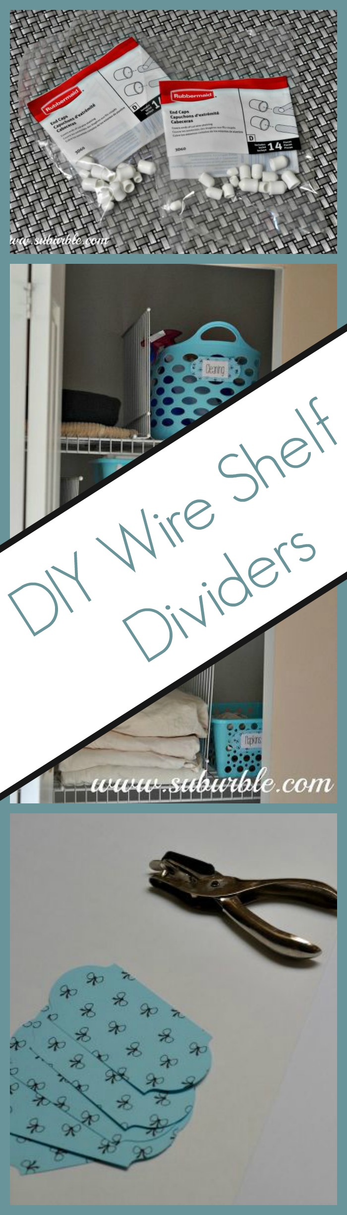 DIY Wire Shelf Dividers (great for the linen closet
