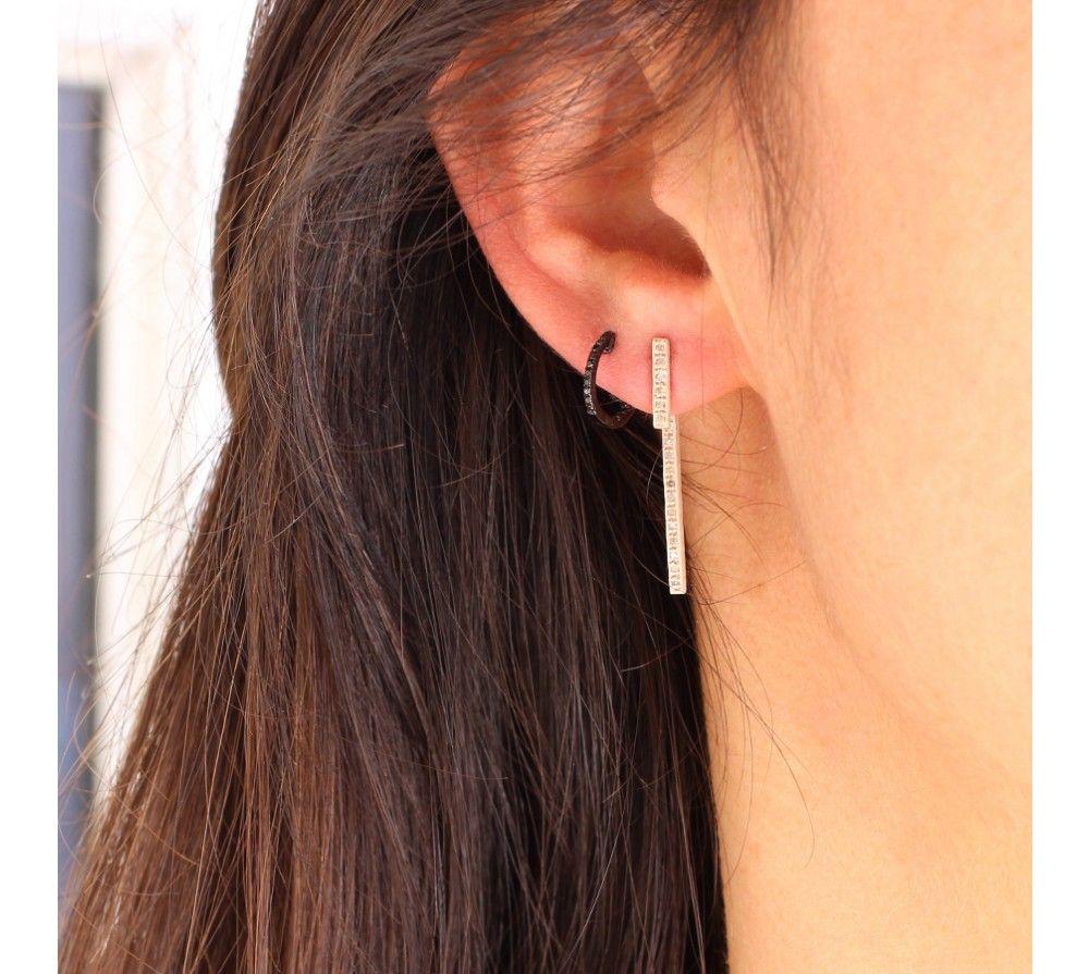 Barrette Boucle Diamants Sur Madjar D'oreille Elsa Les Trouvailles D R3A54jLq