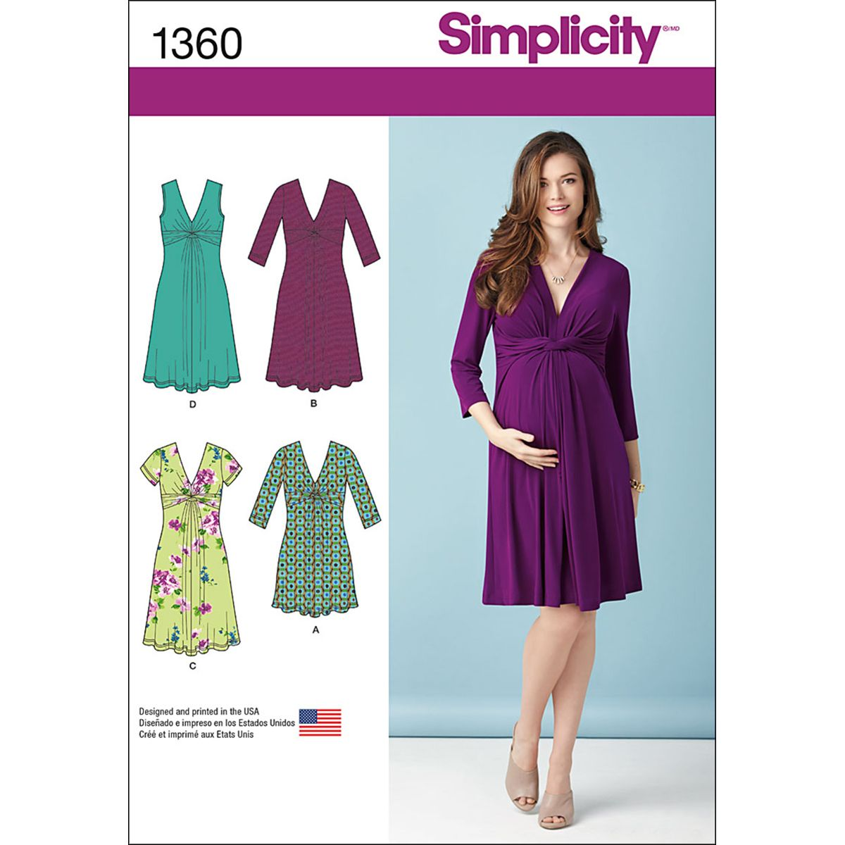 Simplicity Pattern 1360U5 16-18-20-2-Maternity Dresses | Nursing ...