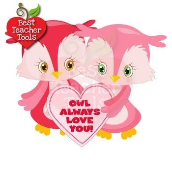 Clipart Owl Clipart Valentines Day Clipart Hearts Clipart Amb