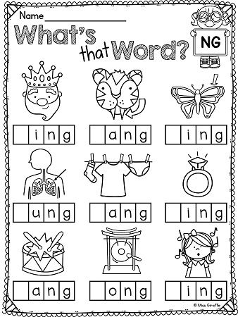 5 letter words ending in ny ng sound ending blends worksheets so much no prep 16481