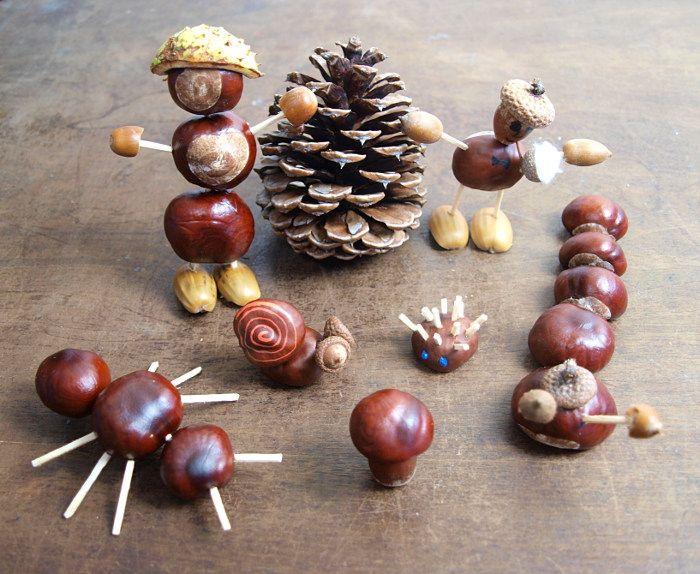 Basteln Mit Kindern Basteln Mit Kastanien Kastanienmannchen Basteln Kastanien Basteln Basteln Mit Naturmaterialien Herbst