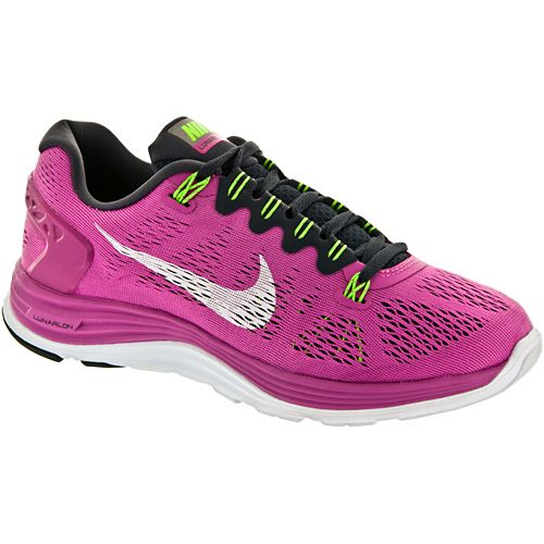 lowest price 7acf8 42135 Nike Lunarglide+ 5 Nike Womens Running Shoes Club Pinkwhitegridiron flash