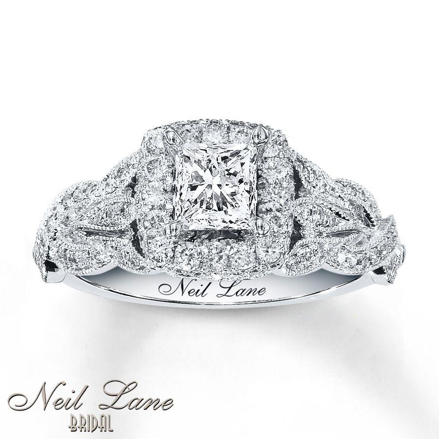 1-1/6 CT Unique  Twist Shank Princess Diamond Engagement Bridal Ring Set Engagement & Wedding Jewelry