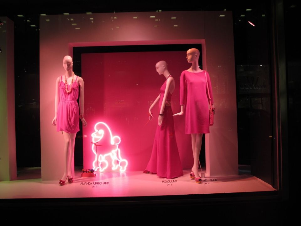 """Bloomingdales, NY, """" i will take Pinky for a walk around the block"""", pinned by Ton van der Veer"""