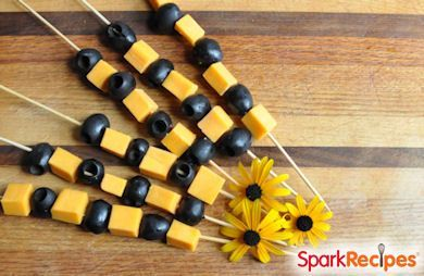 Olive & Cheese Halloween Snack Kabobs Recipe