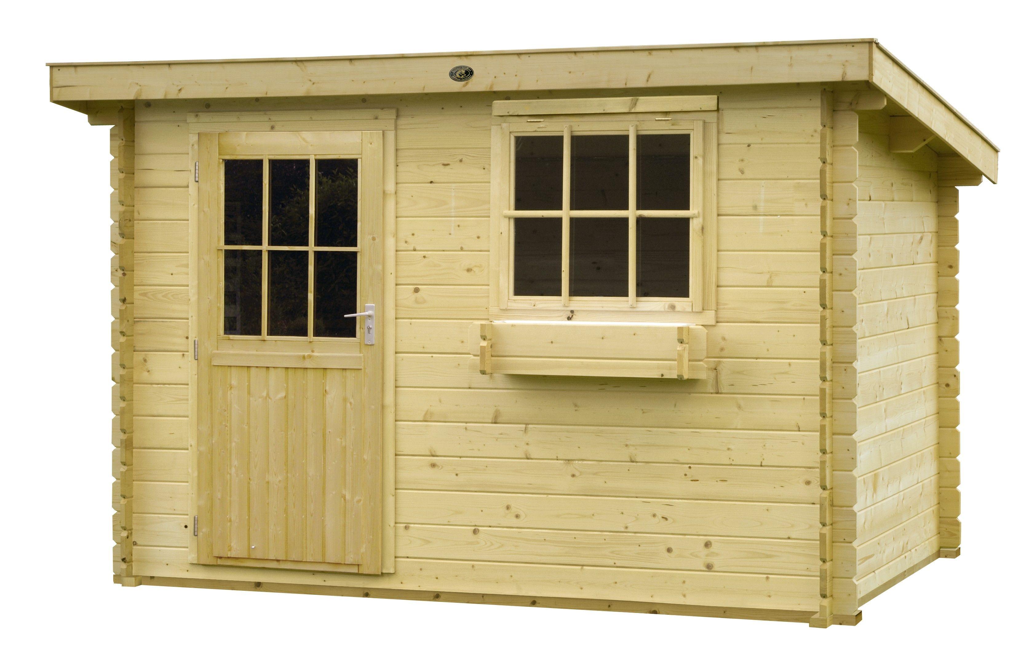 Hillhout tuinhuis Ijsland 300x200cm.  Dit tuinhuis van Hillhout is een kwalitatief hoogwaardig product en heeft u ook 10 jaar garantie na aankoop!  Deze wordt door Mholf gratis geimpregneerd en thuis bezorgd.  Kijk op:  http://www.mholf.nl/blokhutten-blokhut-1/hillhout-tuinhuisje-blokhut-ijsland.html