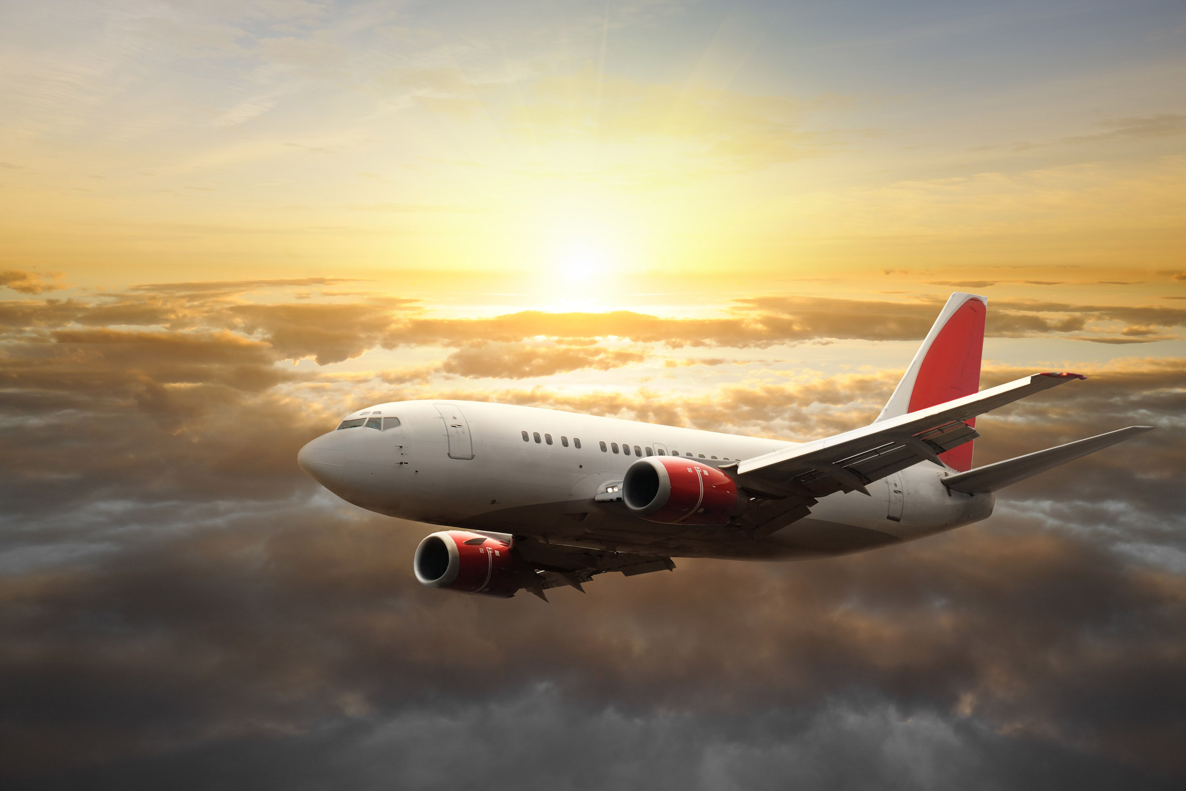 Image For Flying Aeroplane Commercial Sun Hd Wallpapers