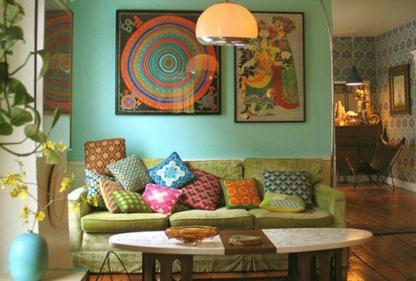 Moderne Wohnzimmer Mit Eklektischer Erscheinung