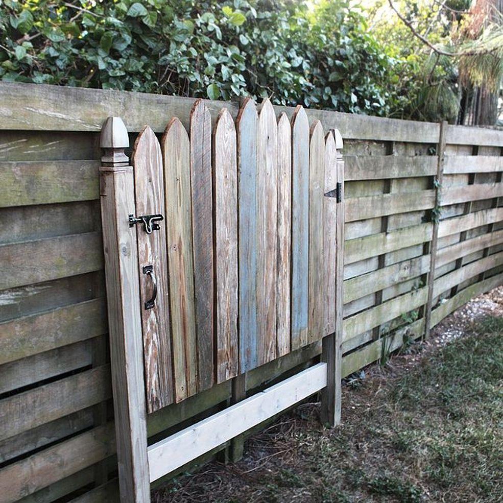 httpbeachbumlivincom Reclaimed Wood Headboard Fence Gate httpbeachbumlivincom Reclaimed