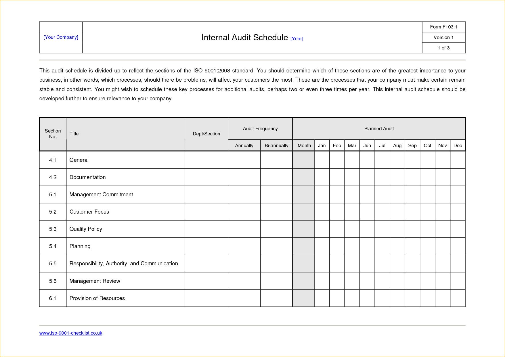 Sample Internal Audit Report Template Call Center Floor